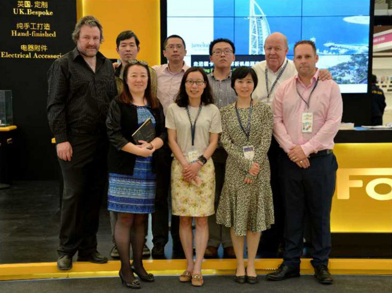 Back (left to right): Mark Curtis (Focus SB), Mitchell Meng, Mark Tang, Zhang, Edward Dempsey (Kursel Ltd). Front (left to right): Sunny Chen, Lily Wu, Fayoni (Kursel Ltd), Duncan Ray (Focus SB).