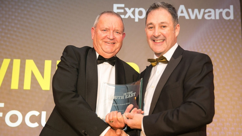 Roger Kemp (left), Focus SB Chairman, receives the award.