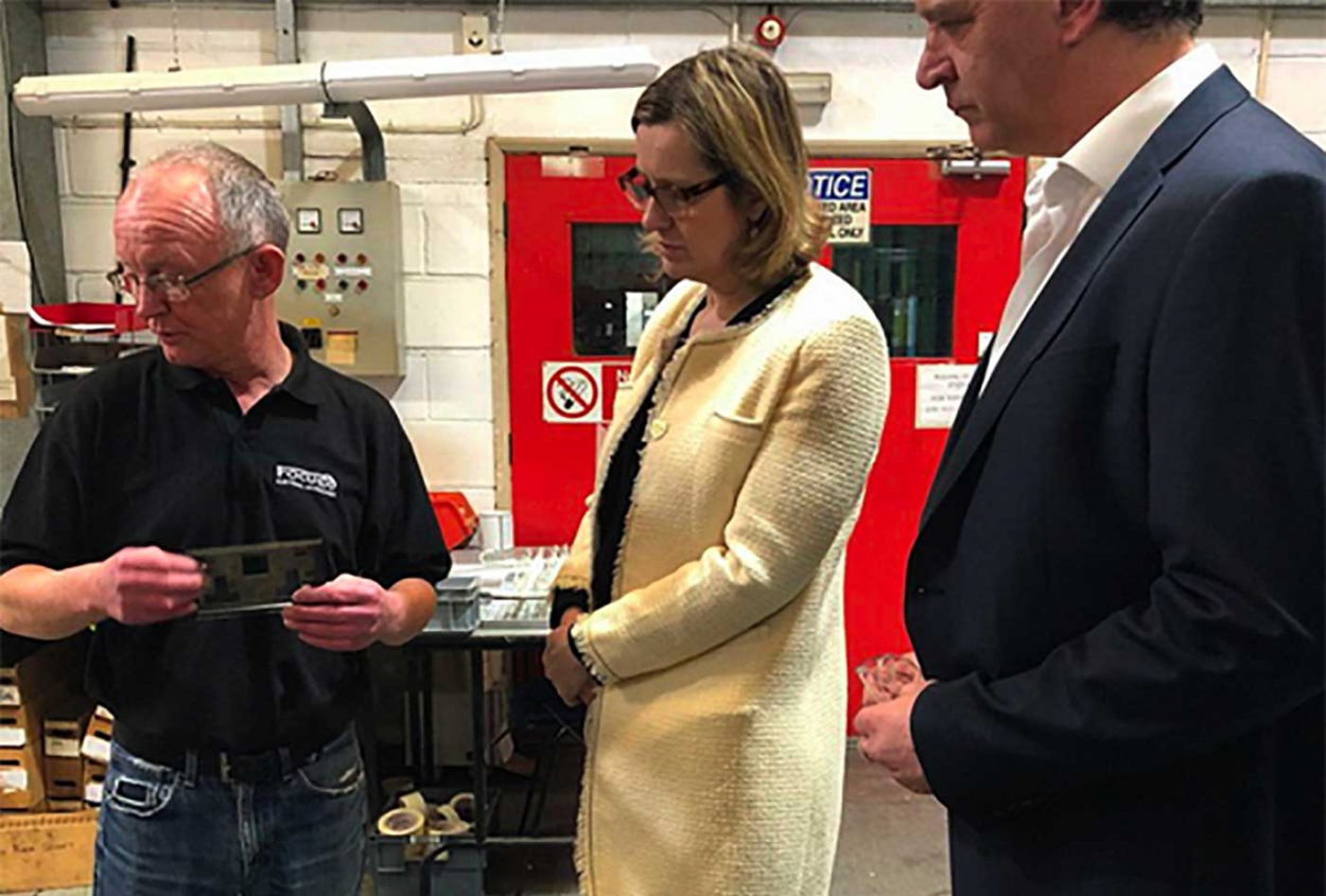 Local MP, Amber Rudd, visits Focus SB