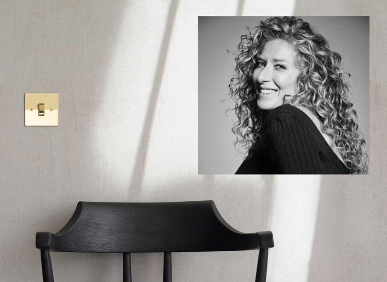 Kelly Hoppen MBE - pictured with Fifty Fifty, one of the Kelly Hoppen by Focus SB styles